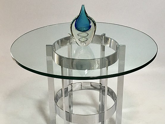 20th Century Decorative Arts: Merrow Associates glass table