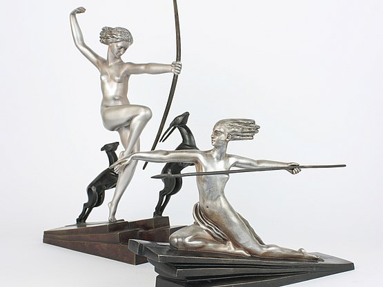 20th Century Decorative Arts: art deco statues 1930s by Bouraine