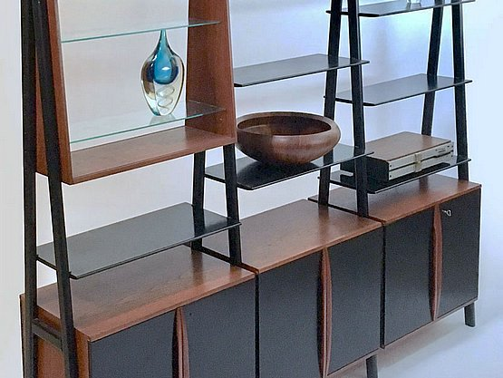 20th Century Decorative Arts: david rosen mid century modern furniture wall unit