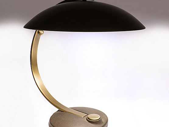 20th Century Decorative Arts: egon hillebrand bauhaus mid century modern desk lamp