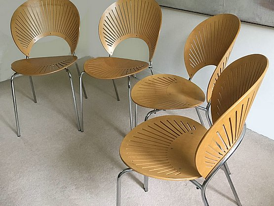 20th Century Decorative Arts:  nanna ditzel trinidad chairs mid century modern
