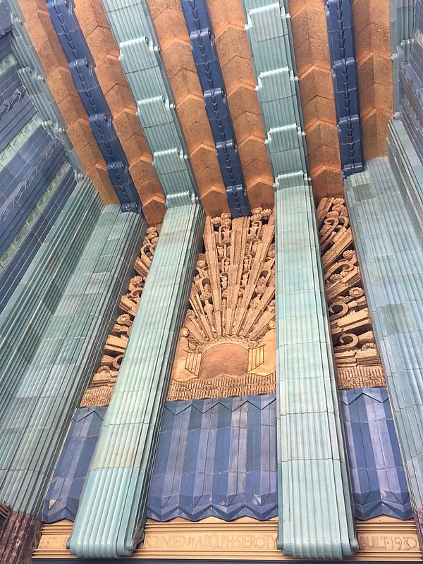 Down Town Los Angeles Art Deco Eastern Columbia Building entrance