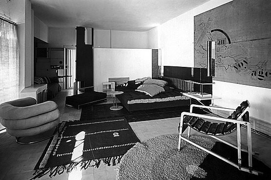 Eileen Gray - Living room, house at Roquebrune.