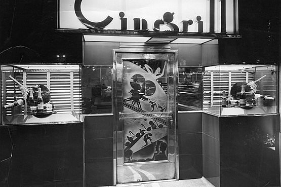 Cinegrill Hollywood Roosevelt Hotel Hollywood California - photo by Herman Schultheis 1937