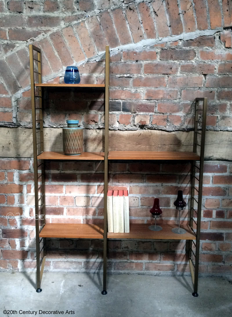 Ladderax shelving system created by Robert Heal c1964 for Staples of Cricklewood.