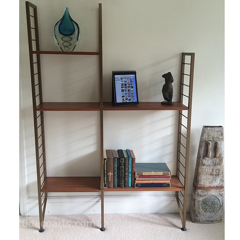 20th Century Decorative Arts | Ladderax shelving system created by Robert Heal c1964 for Staples of Cricklewood.