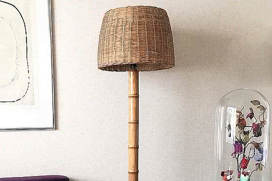 ☑️ 20th Century Decorative Arts |Faux Bamboo Floor Lamp