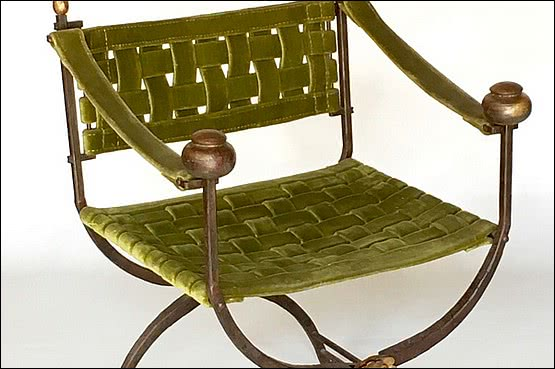 ☑️ 20th Century Decorative Arts |Savonarola ( Curule ) chair - A wonderful 1920's / 30's example
