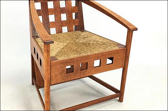 ☑️ 20th Century Decorative Arts |Charles Rennie Mackintosh designed chair Thomas Howarth