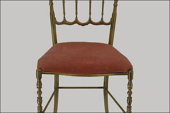 ☑️ 20th Century Decorative Arts |Chiavari Chair c1950s in Brass hollywood regency. 1950s
