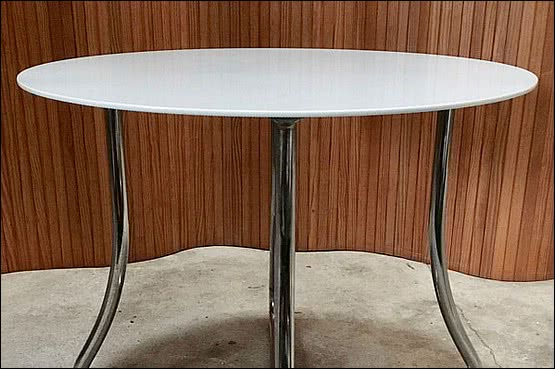 ☑️ 20th Century Decorative Arts |pel chrome modernist table