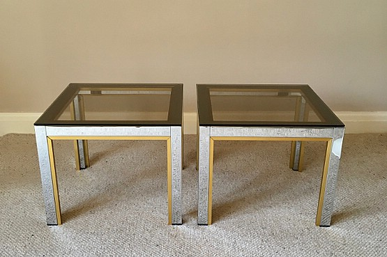 ☑️ Pair of Side tables by Renato Zevi, Italy