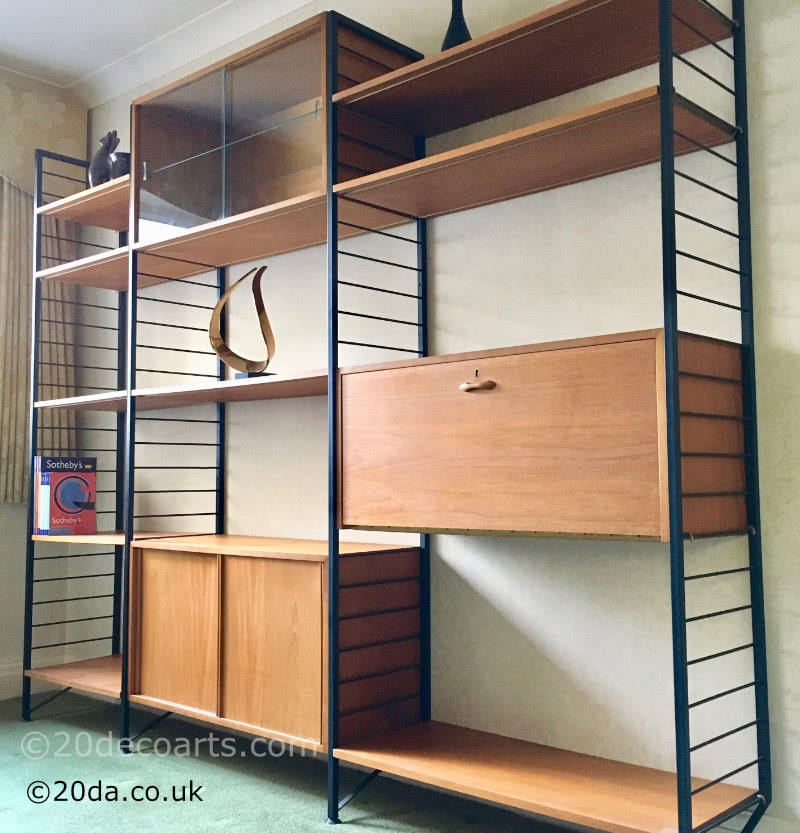 20th Century Decorative Arts |Ladderax shelving system created by Robert Heal c1964 for Staples of Cricklewood.