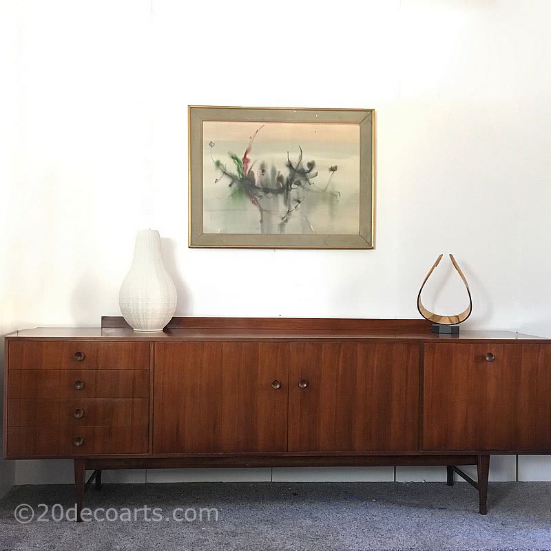 20th Century Decorative Arts |A Long John Mid-Century Sideboard by D. Meredew Ltd, c 1960's.