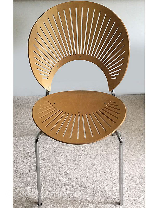 20th Century Decorative Arts |Nanna Ditzel (1923 - 2005) A Trinidad Chair (model 3298) in beech ply with chrome plated legs
