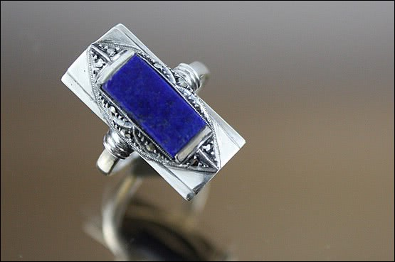 ☑️ 20th Century Decorative Arts |Theodor Fahrner - Art Deco Silver Ring