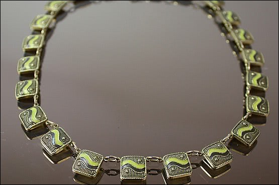 ☑️ 20th Century Decorative Arts |theodor fahrner silver deco necklace