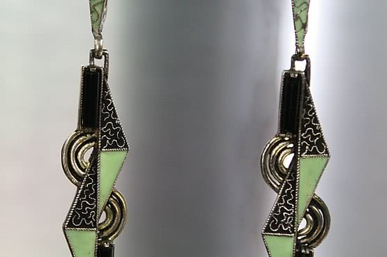 ☑️ 20th Century Decorative Arts |theodor fahrner art deco silver earrings