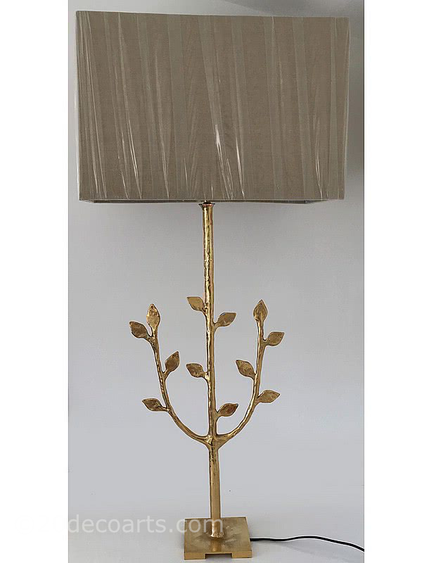 "20th Century Decorative Arts |A large gilt bronze ""Tree of Life"" lamp by Les Heritiers presumably for Fondica c2004."
