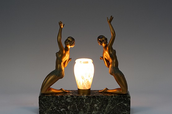 ☑️ limousin original art deco table lamps for sale