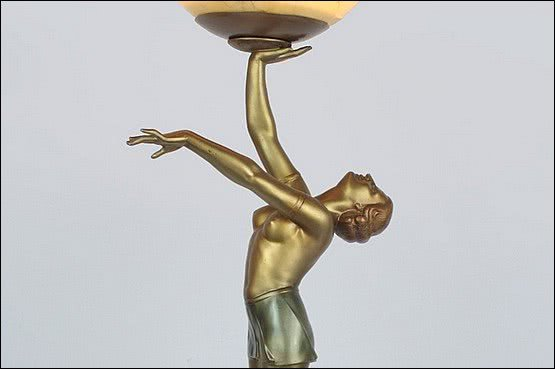 ☑️ 20th Century Decorative Arts |art deco lady lamp