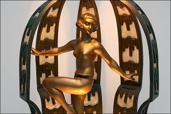 ☑️ 20th Century Decorative Arts |limousin art deco lamp