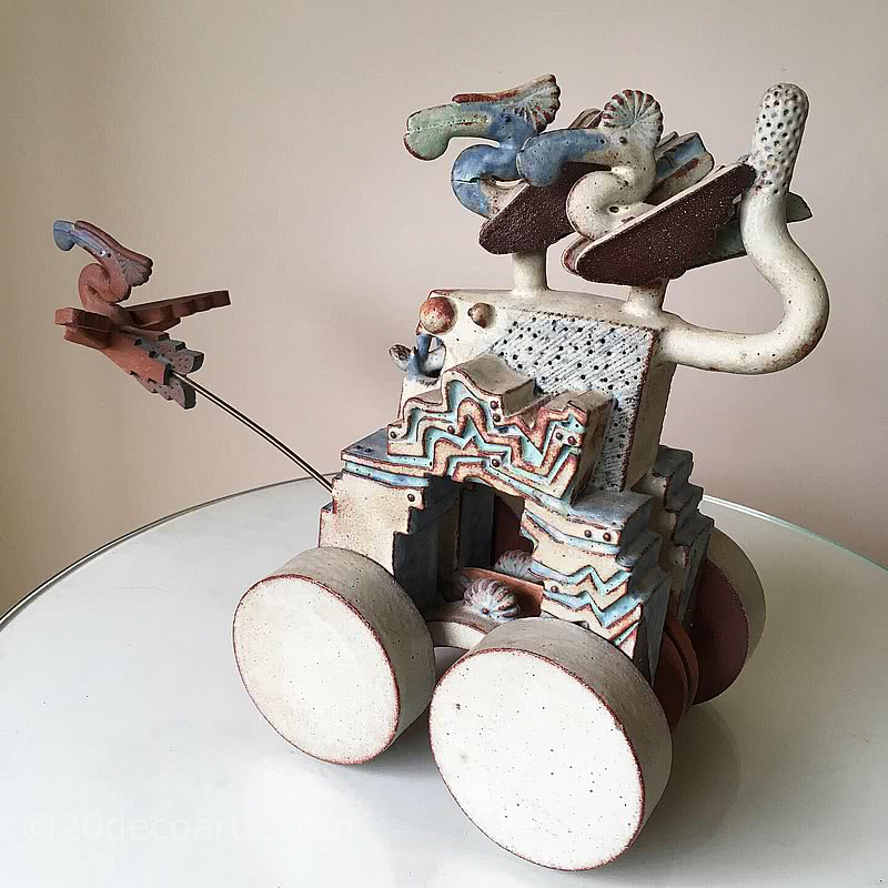 Alan Heaps (b.1941), Studio Pottery Kinetic Sculpture. c1980's