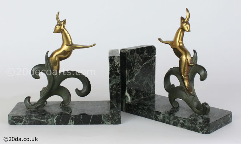 Hollywood Regency - Art Deco Bronze Bookends