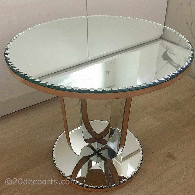 Art Deco Mirrored occasional table, c1930's