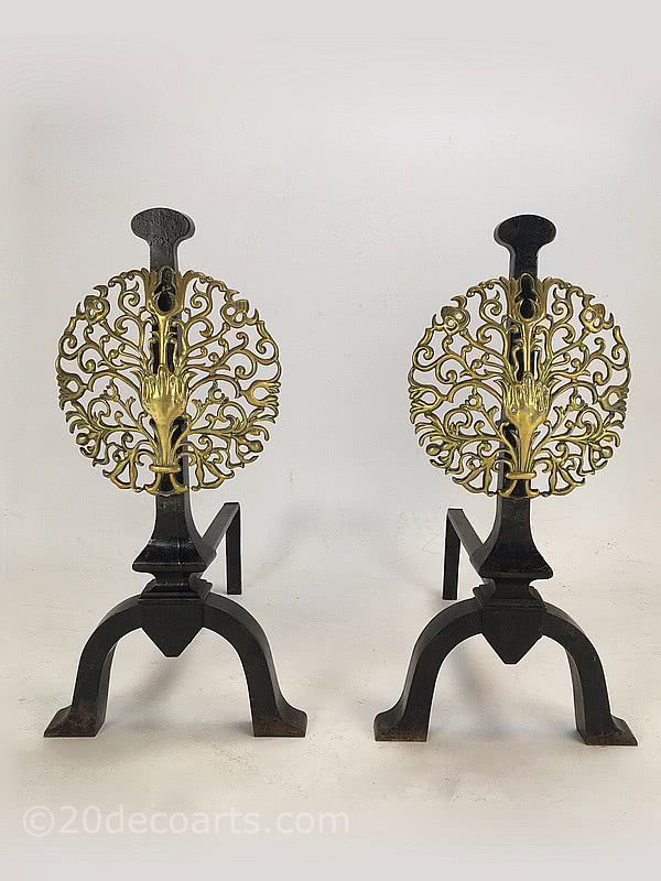The Artificers Guild - A Pair of Iron and Brass Andirons