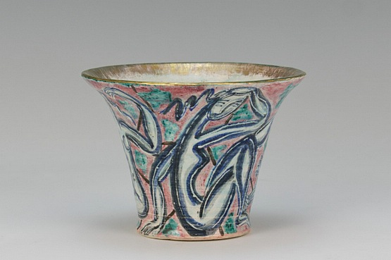 ☑️ Édouard Cazaux - An Art Deco hand turned pottery vase,