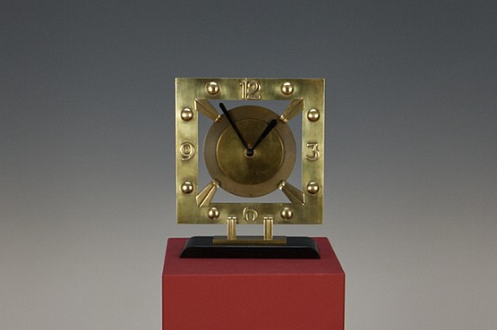 ☑️ art deco modernist onyx clock