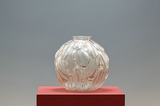 ☑️ art deco glass vase france 1930 carrillo