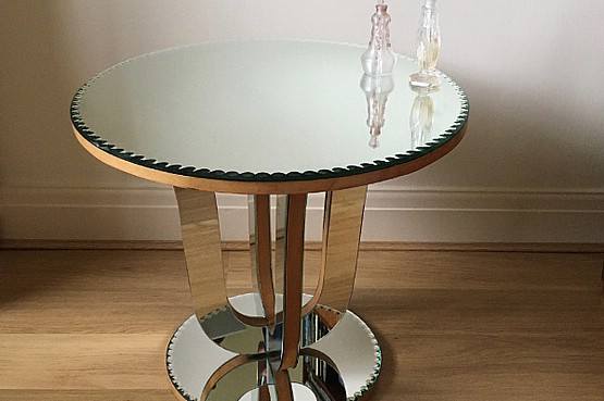 ☑️ art deco mirrored table