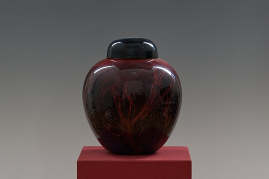 ☑️ 20th Century Decorative Arts |A Royal Doulton Flambe Sung ginger jar attributed to Fred Moore, circa 1935