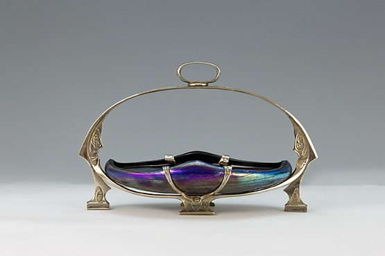 ☑️ 20th Century Decorative Arts |Kralik art nouveau iridescent glass 1900