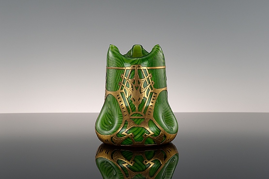 ☑️ 20th Century Decorative Arts |rindskopf glass vase art nouveau aventurine