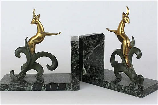 ☑️art deco bronze hollywood regency bookends