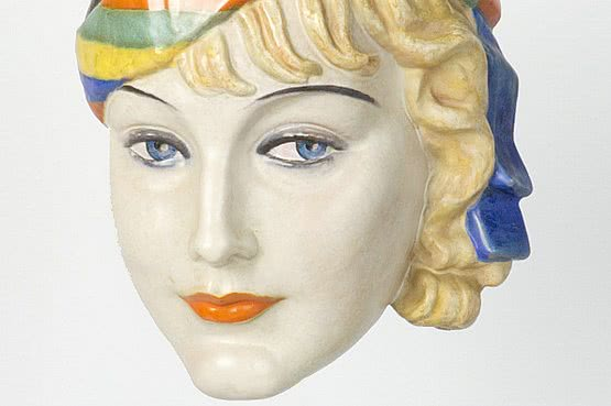 ☑️keramos art deco wall mask by podany