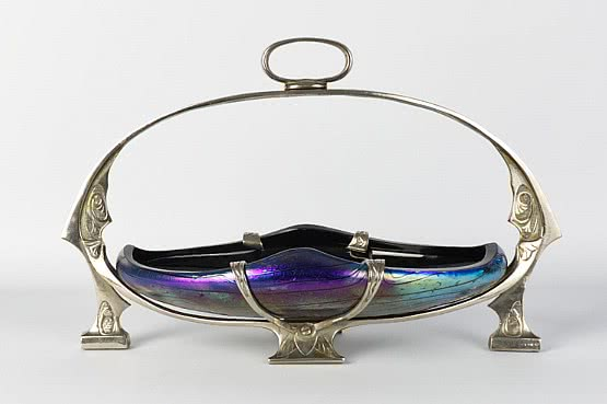 ☑️Kralik art nouveau iridescent glass 1900