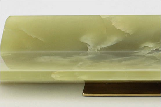 ☑️ 20th Century Decorative Arts |A sleek Art Deco modernist onyx and bronze desk tidy, Germany circa 1930.