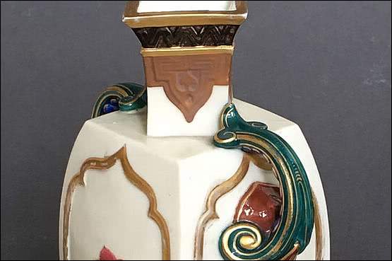 ☑️ 20th Century Decorative Arts |Royal Worcester Soft Paste Ivory Porcelain Vase with Japanese form and decoration c1870's