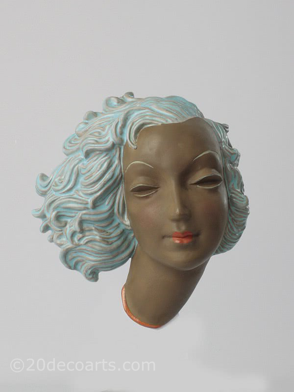 20th Century Decorative Arts | Goldscheider art deco wall mask