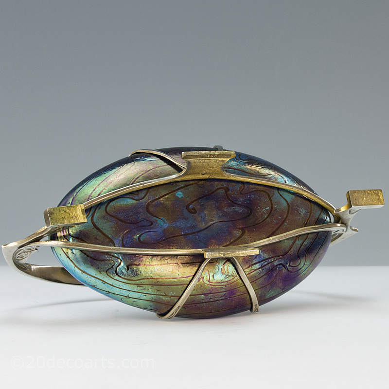 Kralik Art Nouveau Glass Bowl, Bohemia