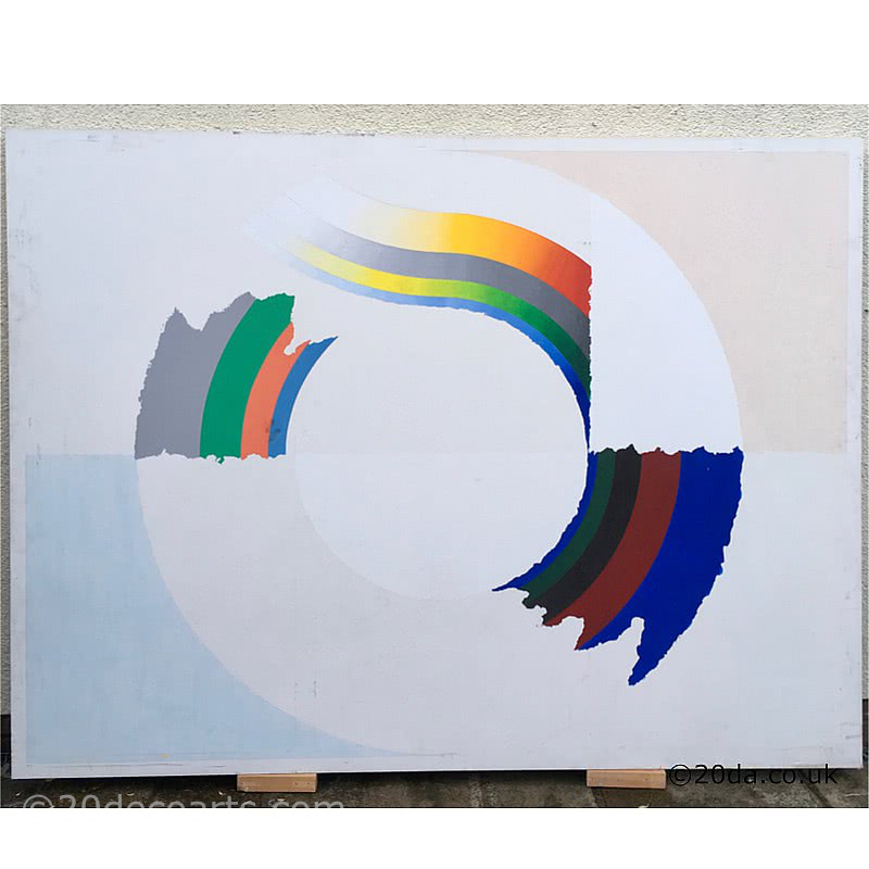 Ron Nixon Large abstract painting on canvas c1978