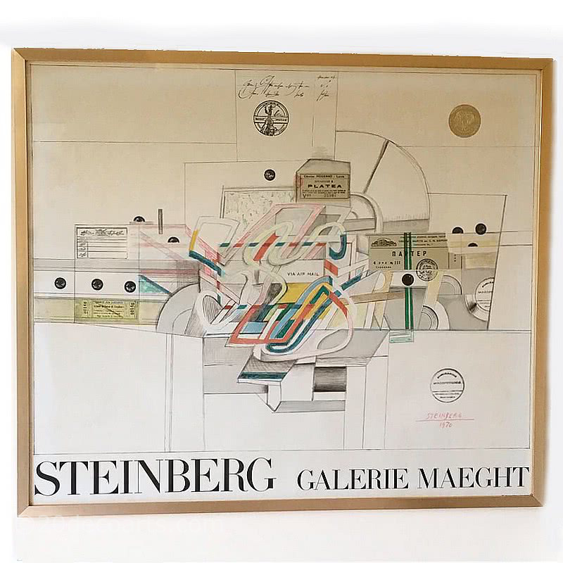 Saul Steinberg Lithograph for Galerie Maeght 19700