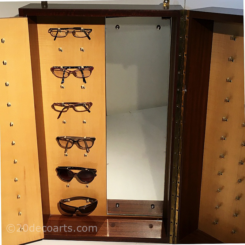 Vintage fold out Optician's spectacle display cabinet. c1950's               / 60's