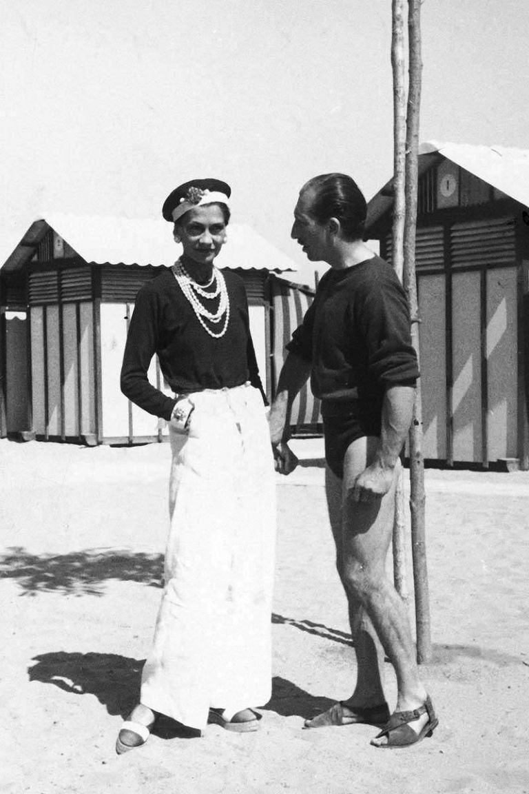 coco chanel in a sailor hat and wide pants 1930 photo 4