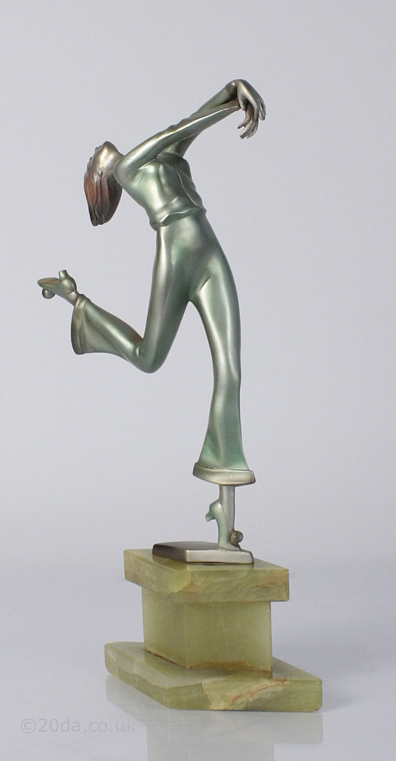 Adolph- art deco dancing lady figurine