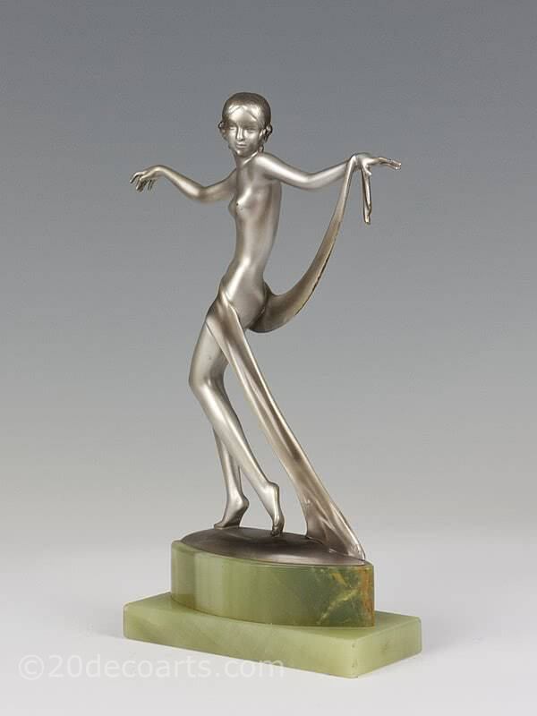 20th Century Decorative Arts |Josef Lorenzl dancer  Art Deco bronze figure photo 2